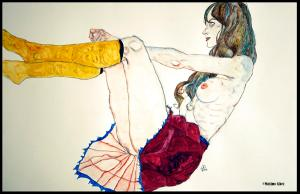 Woman with Yellow Stockings