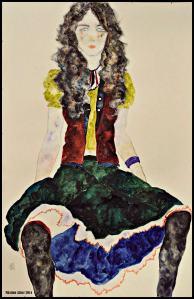 Black-Haired Woman Sitting II