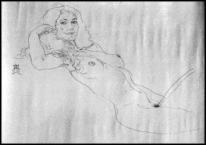 Naked Woman on a Couch